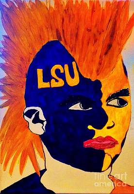 Painting - The Lsu Fan by Saundra Myles