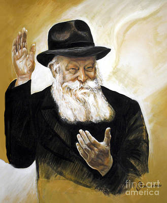Painting - The Lubavitcher Rebbe by Yael Avi-Yonah