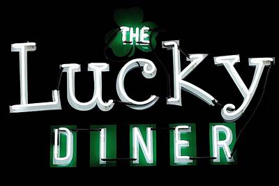 Photograph - The Lucky Diner by Benjamin Yeager