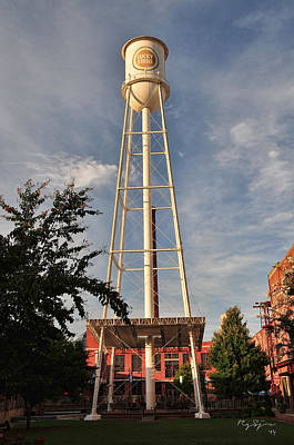 Lovely Lavender - The Lucky Strike Water Tower  by Robert Saunders Jr