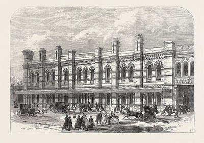 Chatham Drawing - The Ludgate-hill Station Of The London, Chatham by English School