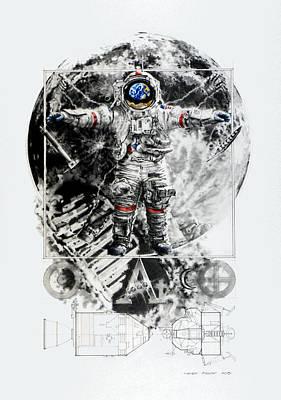 The Lunarian Man Art Print by Mark Bray