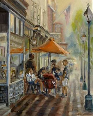 Painting - The Lunch Crowd by Grace Diehl