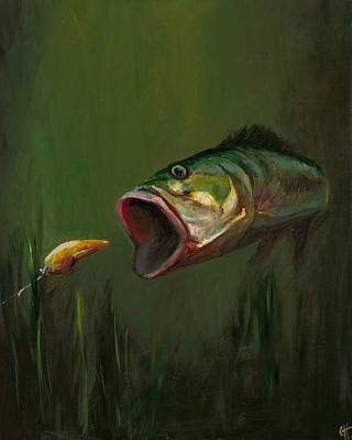 Fish Painting - The Lure by Cari Humphry