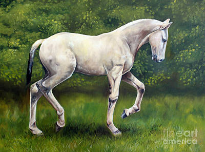Painting - The Lusitano by Debbie Hart