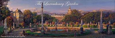 Number 24 Painting - The Luxembourg Garden  by Cao Yong