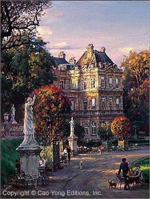 Number 24 Painting - The Luxembourg Garden I Medicis's Palace by Cao Yong