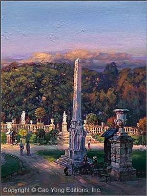 Number 24 Painting - The Luxembourg Garden IIi Peaceful Moment by Cao Yong