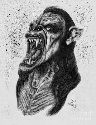 The Lycanthrope Print by Wave