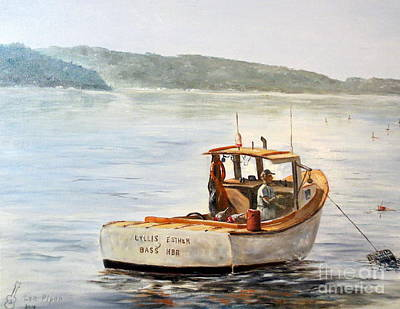 Fishing Bouys Painting - The Lyllis Esther by Lee Piper