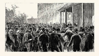 The Lynching Of Italians At New Orleans The Lynchers Print by English School