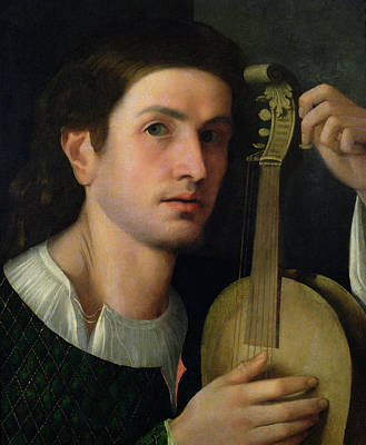 Lute Painting - The Lyre by Italian School