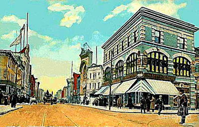 The Lyric Theatre In Jersey City N J Around 1910 Art Print by Dwight Goss