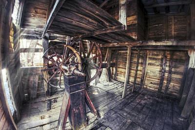 Photograph - The Machinery Of Falling Spring Mill - Missouri - Steampunk by Jason Politte