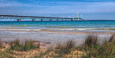 Photograph - The Mackinac Bridge by Jerry Gammon