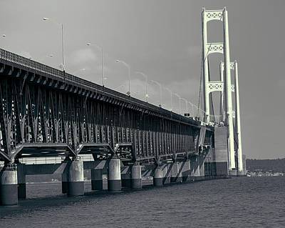 Photograph - The Mackinac Bridge View by Dan Sproul