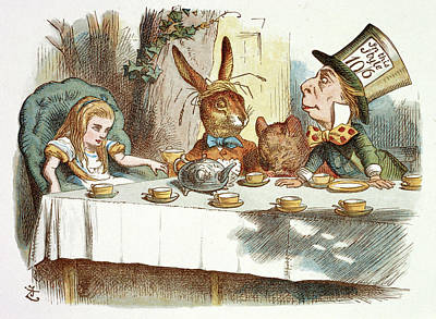 The Mad Hatter's Tea Party Art Print by British Library
