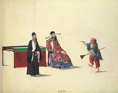 The Mad Monk Print by British Library