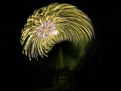 Pyrotechnics Digital Art - The Dumb Blonde by Steve Taylor