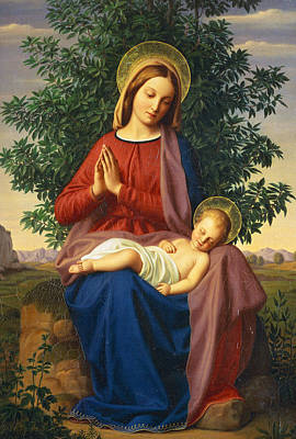Painting - The Madonna And Child by Julius Schnorr von Carolsfeld
