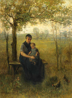 Jozef Israels Painting - The Madonna Of Drenthe by Jozef Israels