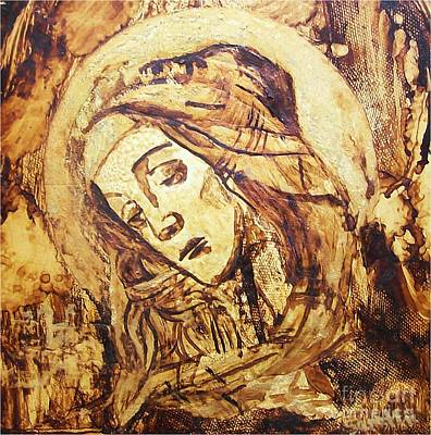 Painting - The Madonna Of Medjugorje,  by Sinisa Saratlic