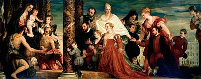 Galerie Painting - The Madonna Of The Cuccina Family by Paolo Veronese