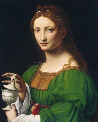 Religious Artist Painting - The Magdalen by Bernardino Luini