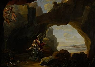 St Mary Magdalene Painting - The Magdalen In A Cave by Johannes Lingelbach