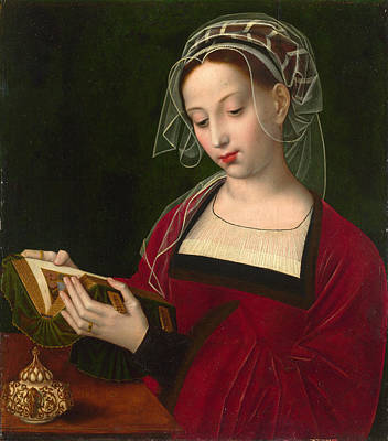 Religious Artist Painting - The Magdalen Reading by Ambrosius Benson