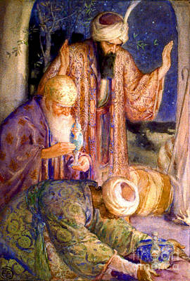 Jesus Christ Watercolor Photograph - The Magi 1912 by Padre Art