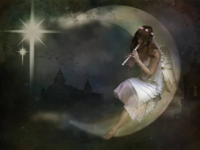 Gale Digital Art - The Magic Flute by Marie  Gale