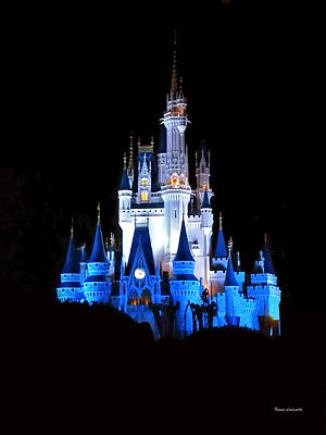 The Magic Kingdom Castle In Blue Walt Disney World Fl Art Print