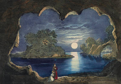 Person Drawing - The Magic Lake Circa 1856  by Aged Pixel