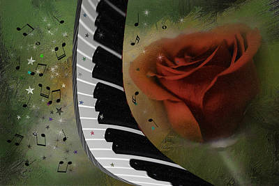 The Magic Of Love And Music Art Print