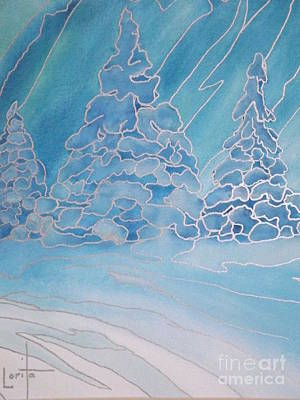 Fir Trees Mixed Media - The Magic Of Snow by Lorita Montgomery