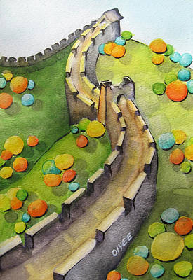 Great Wall Of China Painting - The Magical Great Wall by Oiyee At Oystudio