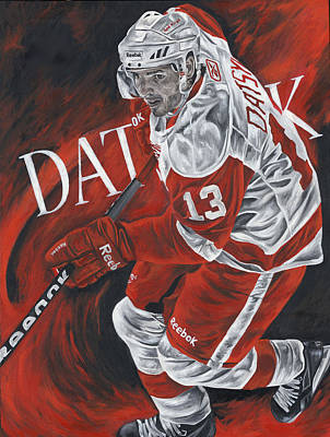 The Magician - Pavel Datsyuk Art Print by David Courson