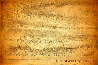 Library Mixed Media - The Magna Carta 1215 by Design Turnpike