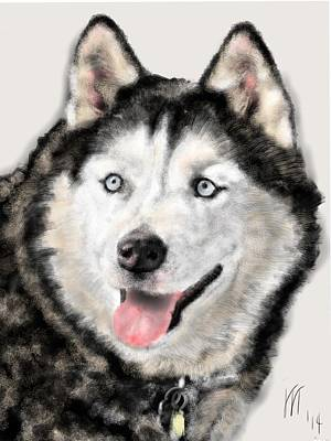 Huskie Painting - The Magnificent Husky by Lois Ivancin Tavaf