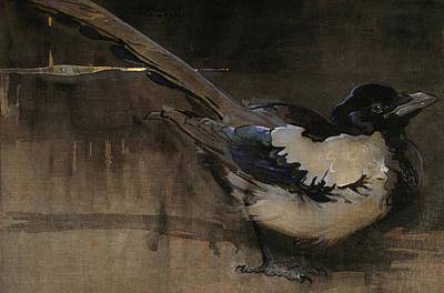 Magpies Painting - The Magpie by Joseph Crawhall