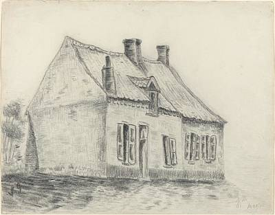Old Farm Drawing - The Magrot House Cuesmes by Vincent vang Gogh