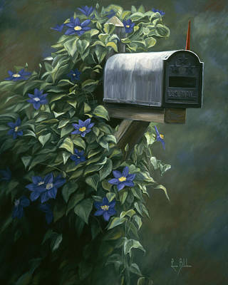 Mailbox Painting - The Mail Box by Lucie Bilodeau