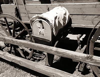 Photograph - The Mailbox And The Wagon by Dany Lison