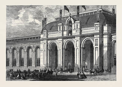 The Main Entrance Of The International Exhibition Building Art Print
