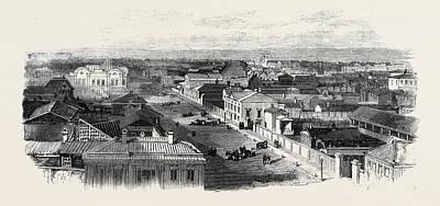 Main Street Drawing - The Main Street Of Irkutsk Siberia 1869 by English School