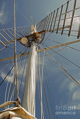 Tall Ships Photograph - The Mainmast Of The Amazing Grace by Jani Freimann