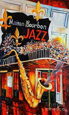 Night Club Painting - The Maison Bourbon New Orleans by Diane Millsap
