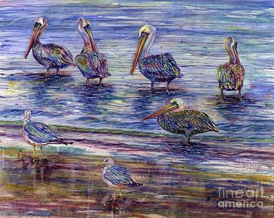 The Majestic Pelican Visit Art Print