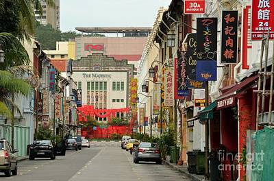 Art Print featuring the photograph The Majestic Theater Chinatown Singapore by Imran Ahmed